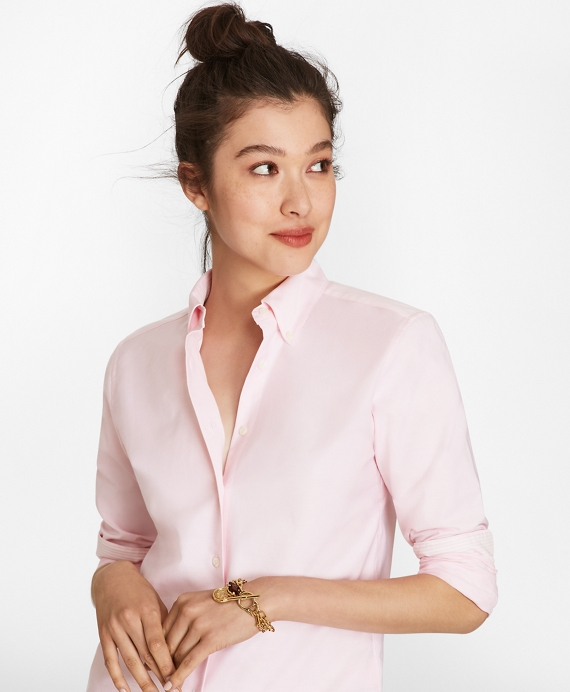 Classic-Fit Supima® Cotton Oxford Button-Down Shirt Pink