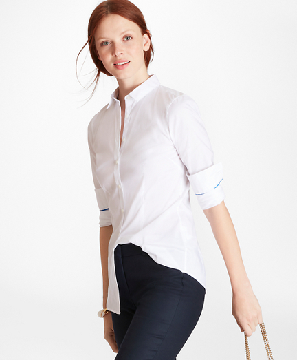 Tailored-Fit Stretch-Cotton Shirt