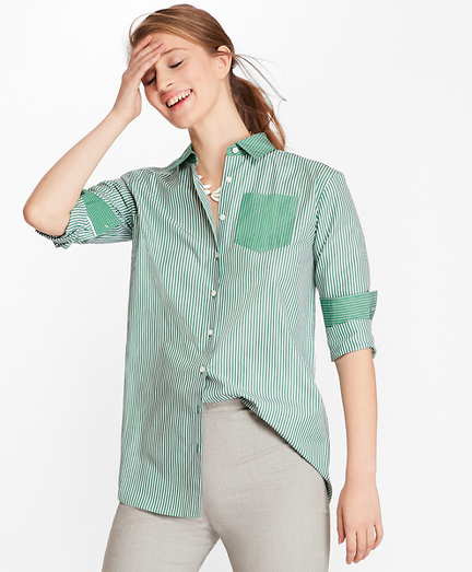 Striped Cotton Fun Shirt
