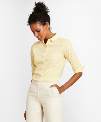 aab4f0ce6227c Non-Iron Tailored-Fit Striped Stretch-Cotton Poplin Shirt