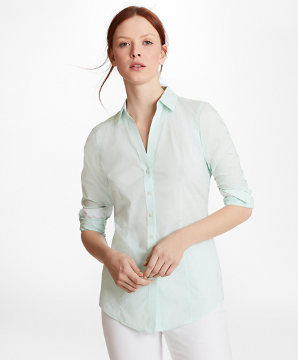 Non-Iron Tailored-Fit Cotton Poplin Shirt