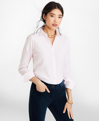Classic-Fit Striped Cotton Dobby Luxury Shirt