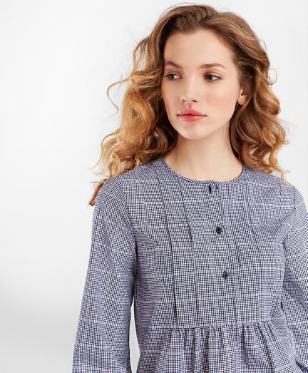 Checked Supima® Cotton Tunic