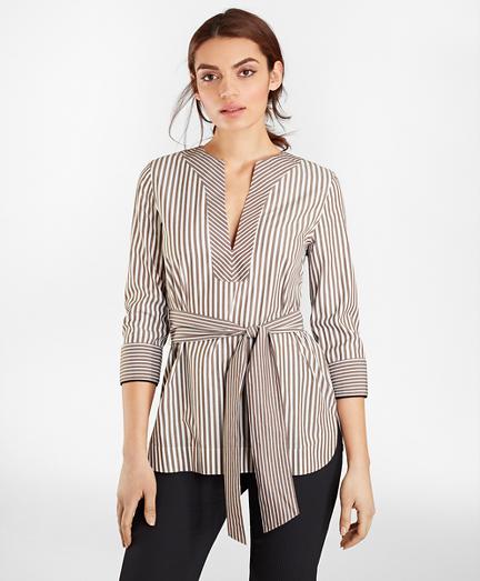 Non-Iron Striped Supima® Cotton Shirt