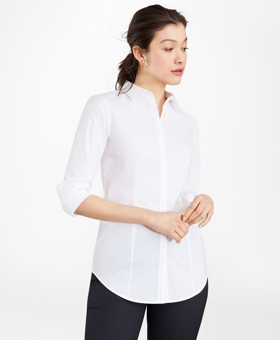 Tailored-Fit Performance Non-Iron COOLMAX® Poplin Shirt White