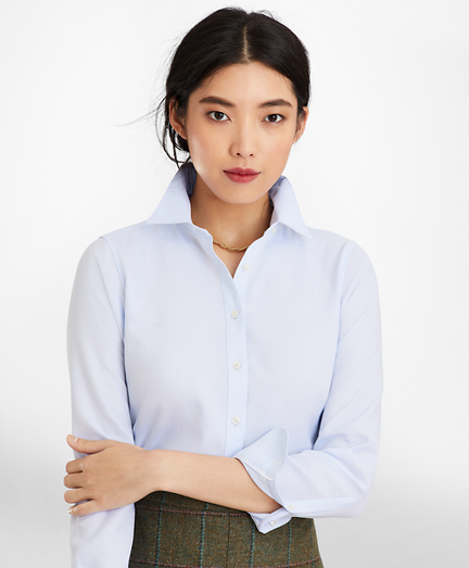 Classic-Fit Cotton Dobby Luxury Shirt