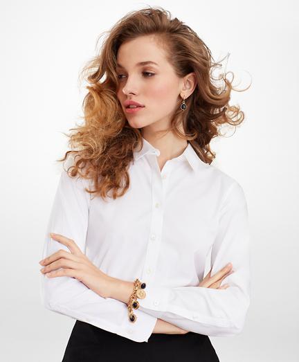 Non-Iron Classic-Fit Stretch Supima® Cotton Dress Shirt