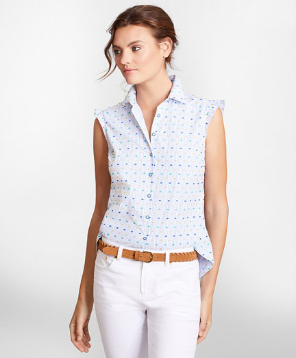Clip-Dot Supima® Cotton Dobby Blouse