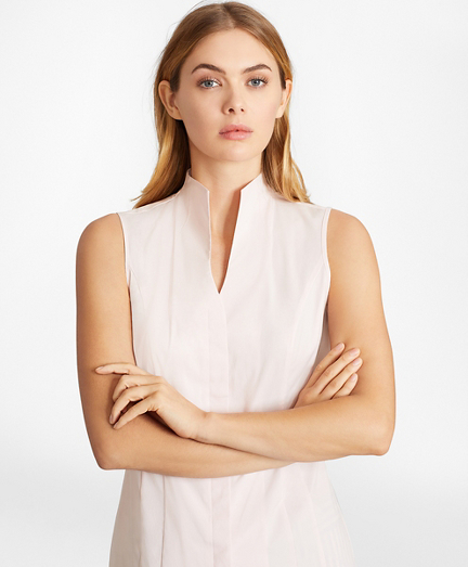 Non-Iron Poplin Sleeveless Blouse