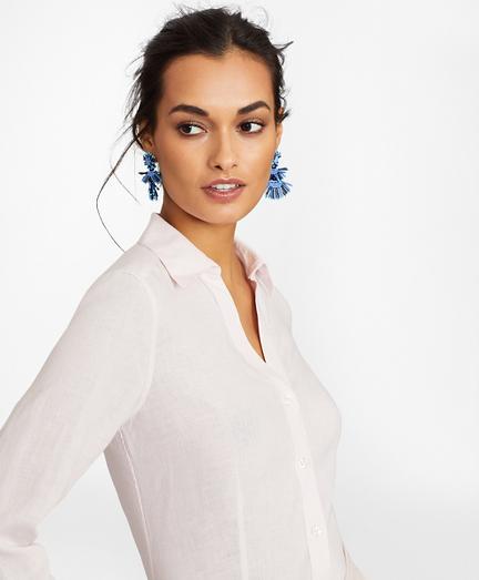 Linen Three-Quarter Sleeve Shirt