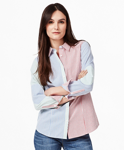 Tailored-Fit Supima® Cotton Seersucker Fun Shirt