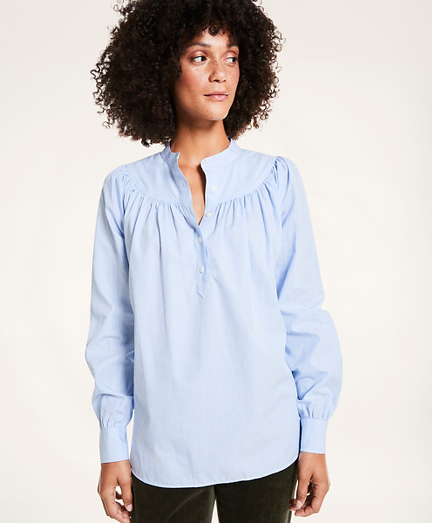 Popover Cotton Striped  Shirt