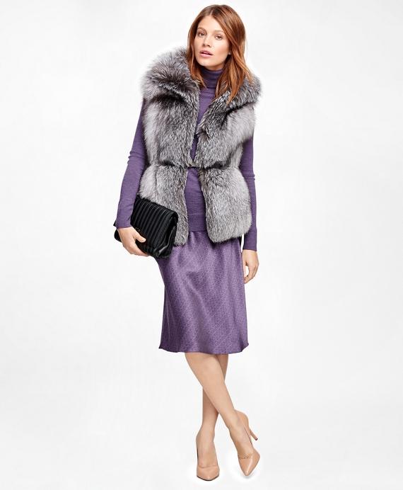 Fox Fur Vest Grey
