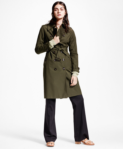Micro-Houndstooth Trench Coat