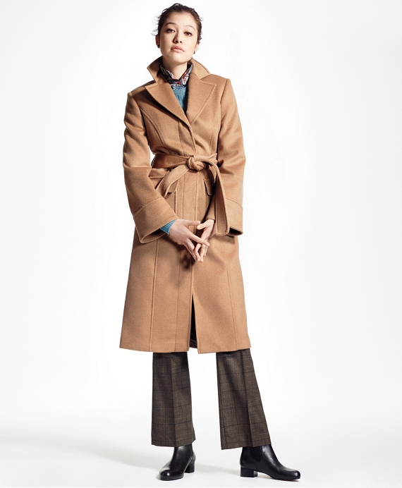 Loro Piana® Single-Breasted Camel Hair Coat Camel