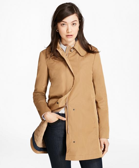 Peter Pan Collar Coat Tan