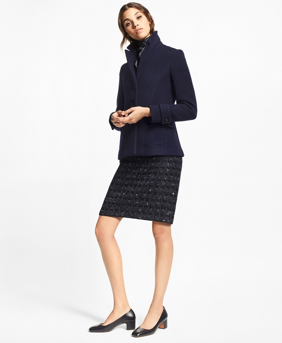 Double-Faced Wool Coat Navy
