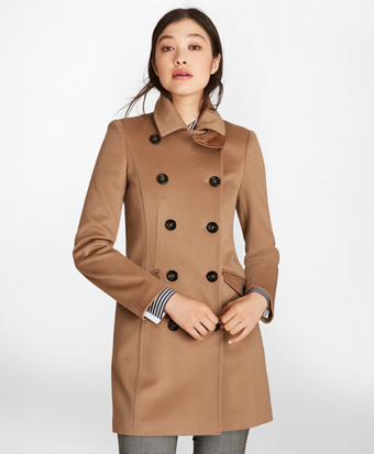 Brushed Wool Twill Peacoat