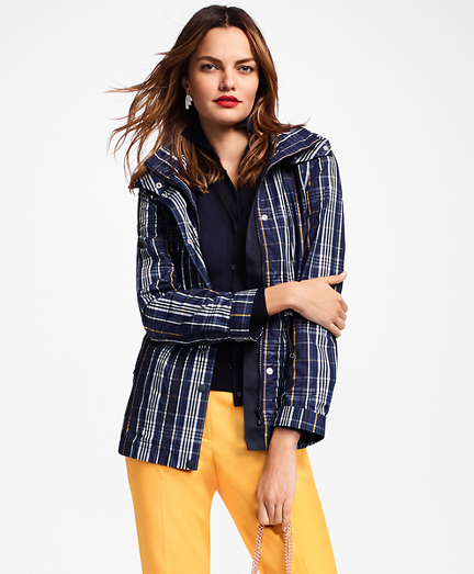 Plaid Rain Jacket