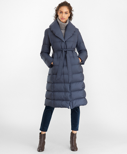 Shawl-Collar Down-Fill Puffer Coat