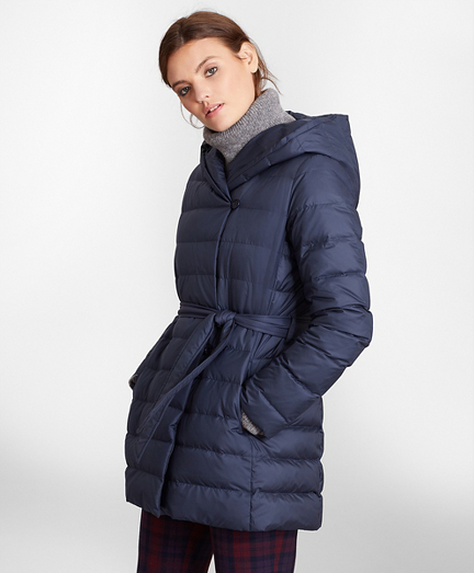 Water-Repellent Down-Filled Wrap Coat