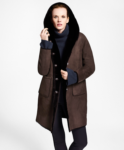 Shearling Hooded Coat
