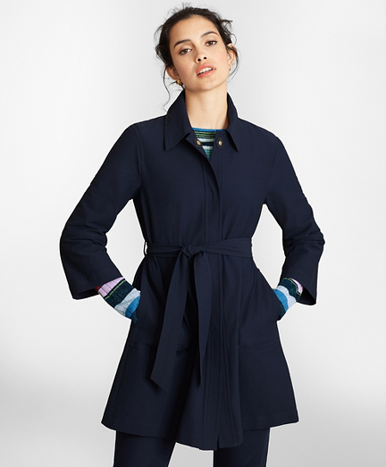 Water-Repellent Seersucker Coat