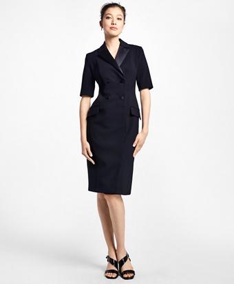 Double-Breasted Tuxedo Dress