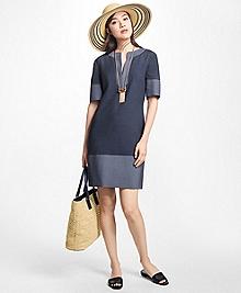 Corded Cotton-Blend Shift Dress