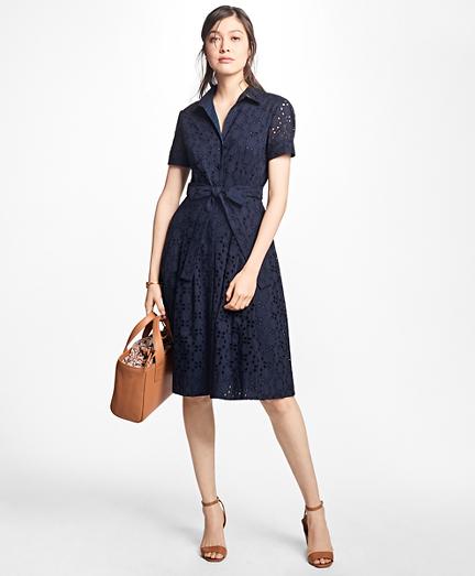 Cotton Eyelet Shirt Dress
