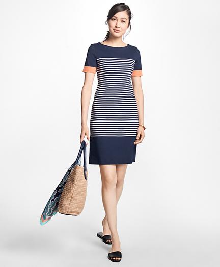 Striped Cotton Interlock Jersey Dress