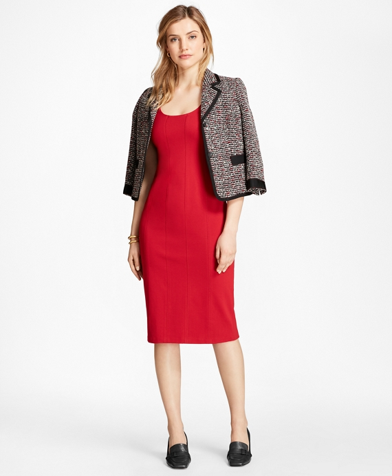 Ponte Sheath Dress Red