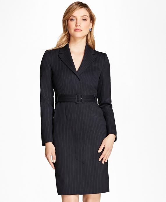 711d41902b Pinstripe Stretch-Wool Jacket Dress - Brooks Brothers