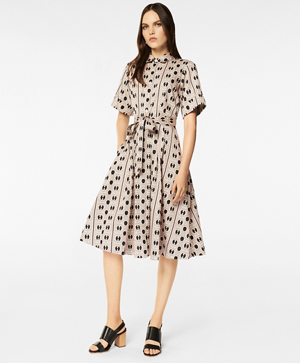 Daisy-Print Cotton Sateen Shirt Dress
