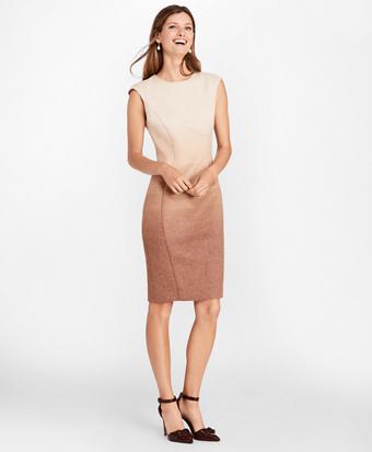 Ombre Wool-Alpaca-Blend Sheath Dress