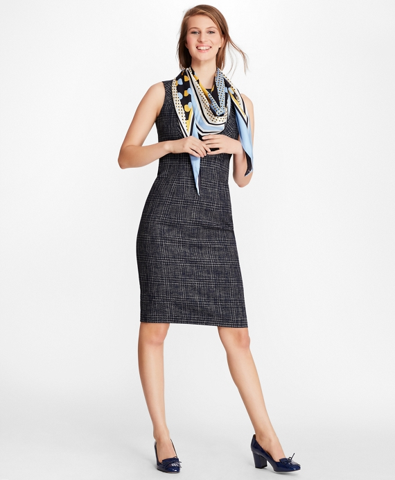 9c40167b5f Plaid Tweed Sheath Dress - Brooks Brothers