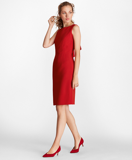 7567f5a51583 Double-Weave Tie-Back Sheath Dress. remembertooltipbutton