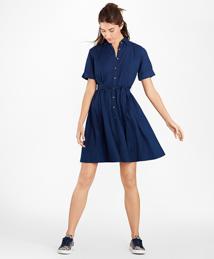 Cotton Oxford Shirt Dress