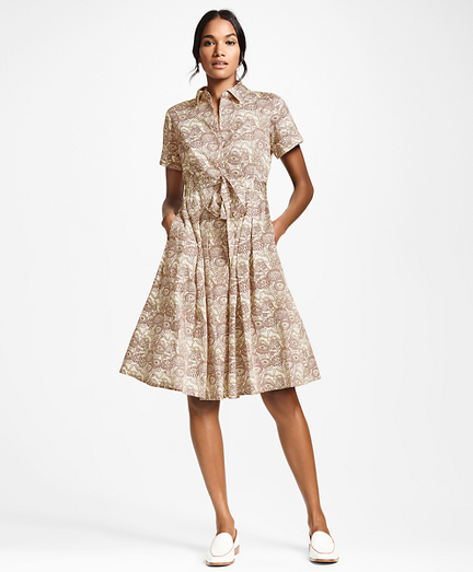 cb59d09c8ee6 Floral-Print Cotton Sateen Shirt Dress. remembertooltipbutton