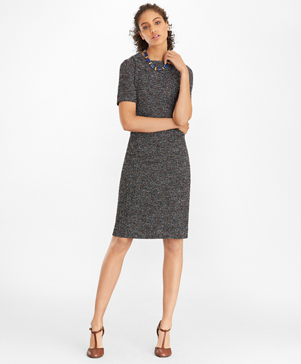 Boucle Tweed Sheath Dress