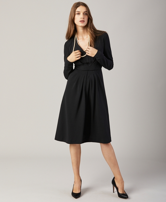 Knit Jacquard Dress Black