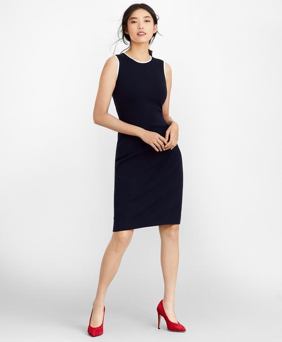 Milano-Knit Sheath Dress Navy
