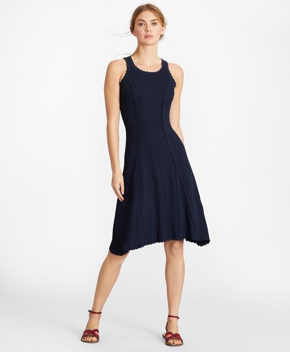 Rib-Knit Dress Navy