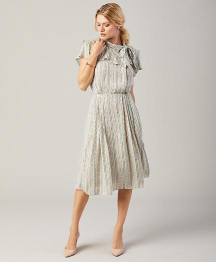 Floral-Print Silk Georgette Dress