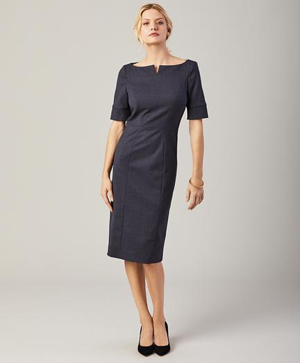 Stretch-Wool Sheath Dress