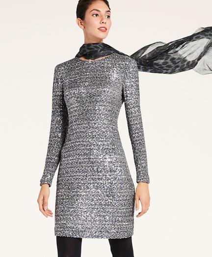 Stretch Sequin Dress