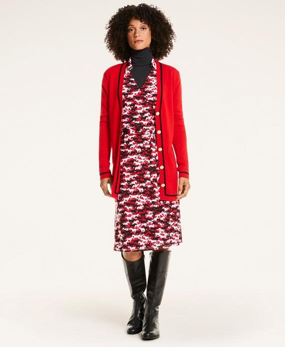Horse Print Wrap Dress Red