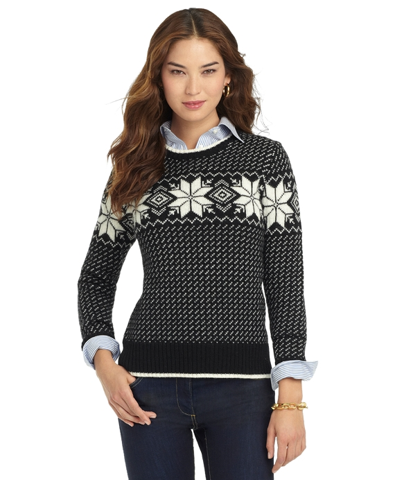 Wool Snowflake Sweater - Brooks Brothers 1c9254d30
