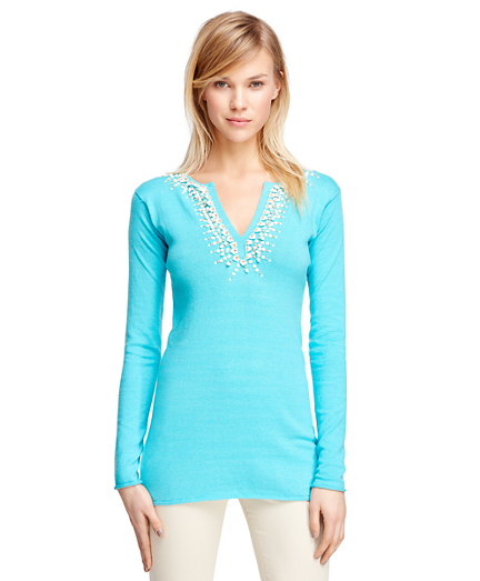 Silk Blend Tunic Sweater