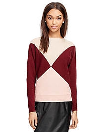 Cashmere Color-Block Sweater
